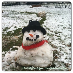 Mr. Petite Snowman.  Kids did the best they could with the snow we had.