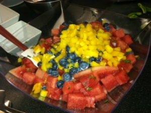 Blueberry Watermelon Salsa - Yummy!